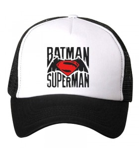 batman suparman art printed cap